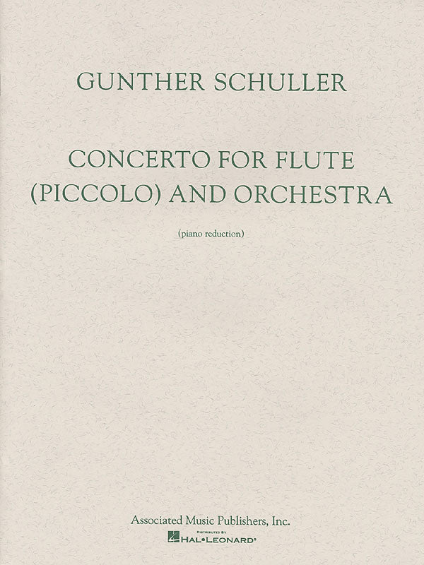 Concerto for Flute (Piccolo) and Orchestra (Flute and Piano)
