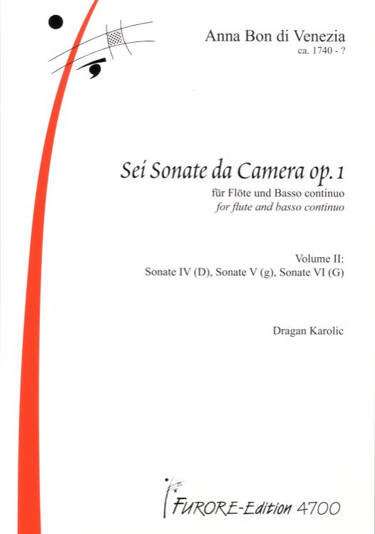 Six Sonatas for Flute and Basso Continuo, Op1. Vol 2
