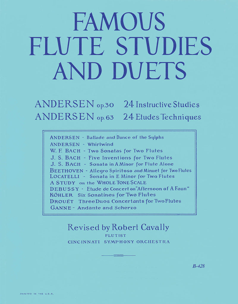 Famous Flute Studies and Duets (The Big Blue Book)