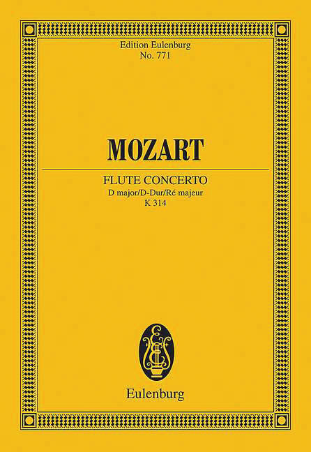 Concerto No. 2 in D Major, K314 (Study Score)