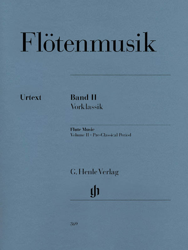 Flute Music Volume 2 - Pre-Classical Period (Flute and Piano)