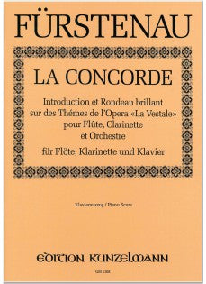 "La Concorde; Introduction and Rondeau brillant on Themes from ""La Vestale"" (Flute, Clarinet, and Piano)"