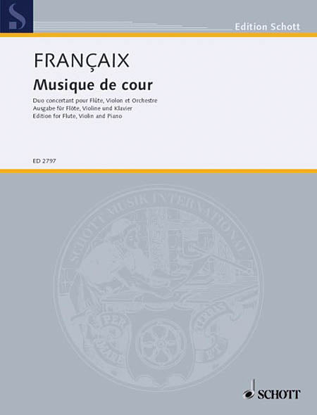 Musique du Cour (Flute, violin and orchestra, piano reduction)