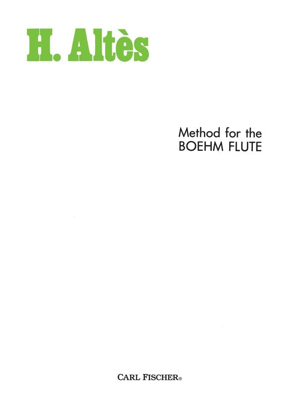 Method for Boehm Flute
