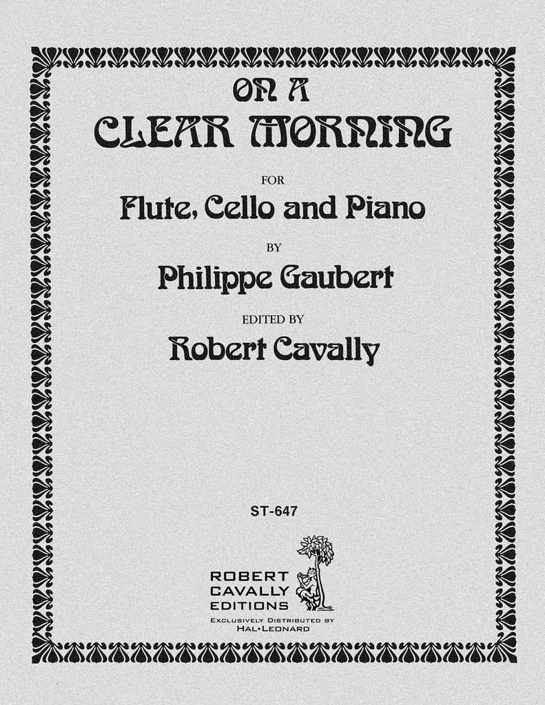 On a Clear Morning (from Three Water Colors) (Flute, Cello, Piano)
