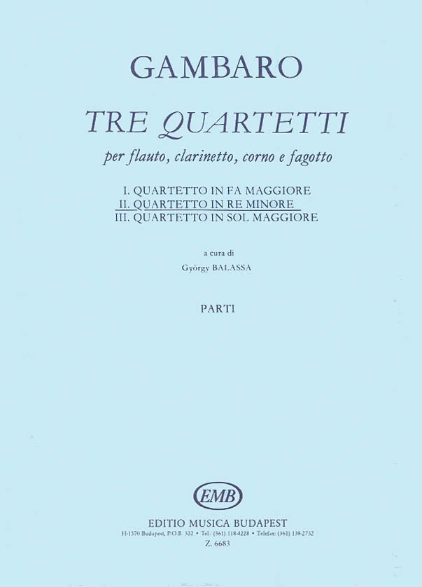 Quartet in D Minor (Mixed Woodwinds)