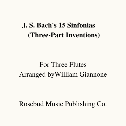 J.S Bach's 15 Three-part Inventions (BWV 787-801) (Three Flutes)