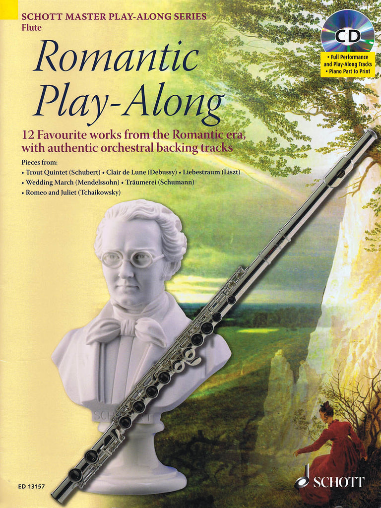 Romantic Play-Along for Flute (Flute and Piano)
