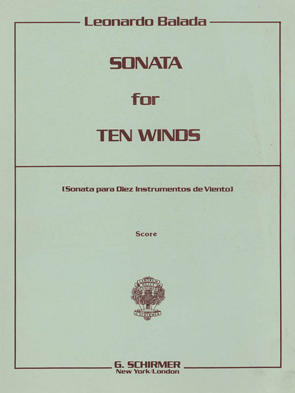 Sonata for 10 Winds - Playing Score (Mixed Woodwinds)