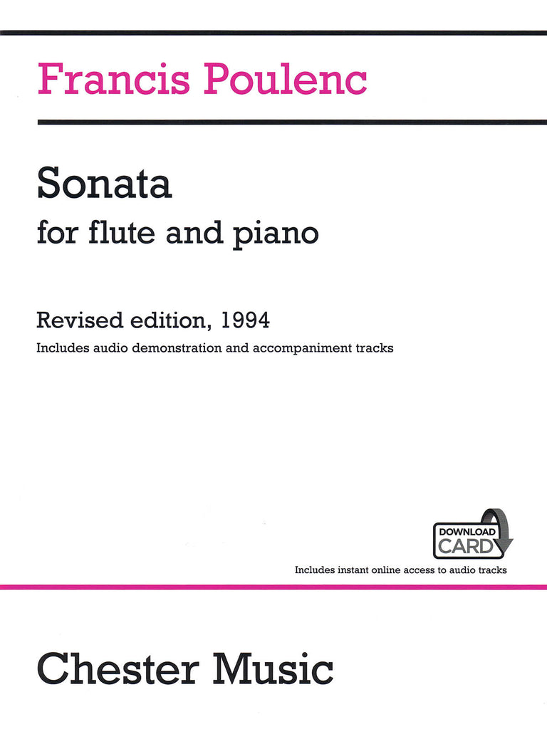 Sonata (w/CD Acc't) (Flute and Piano)