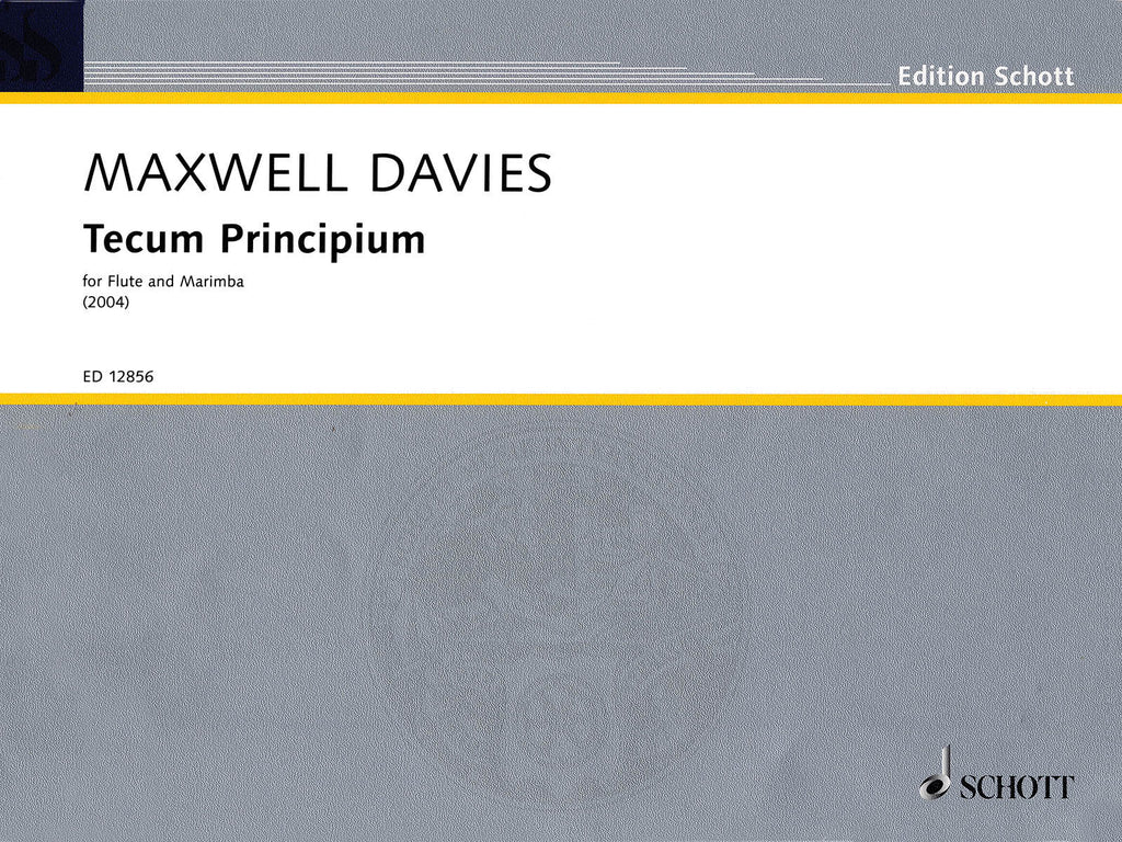 Tecum Principium (2004) (Flute and Percussion)