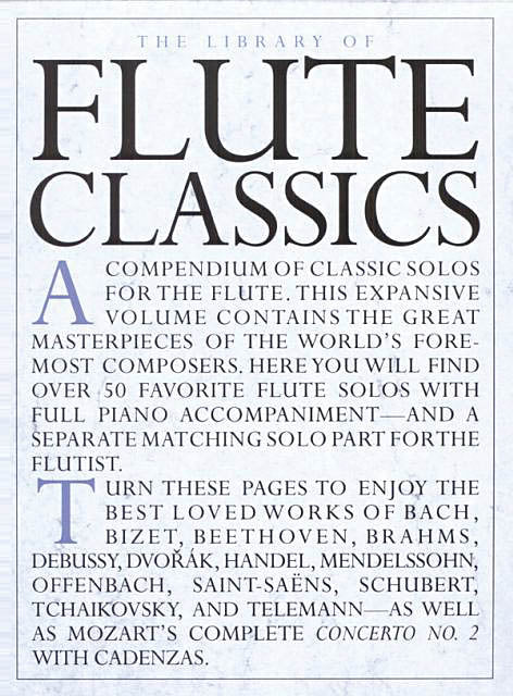 The Library of Flute Classics (Flute and Piano)