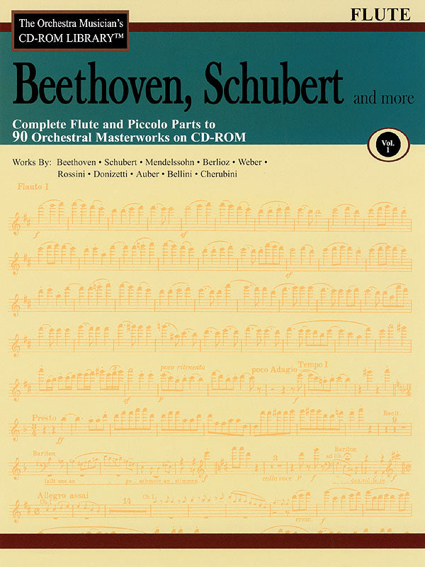 The Orchestra Musician's CD-ROM Library - Beethoven, Schubert & More – Volume 1