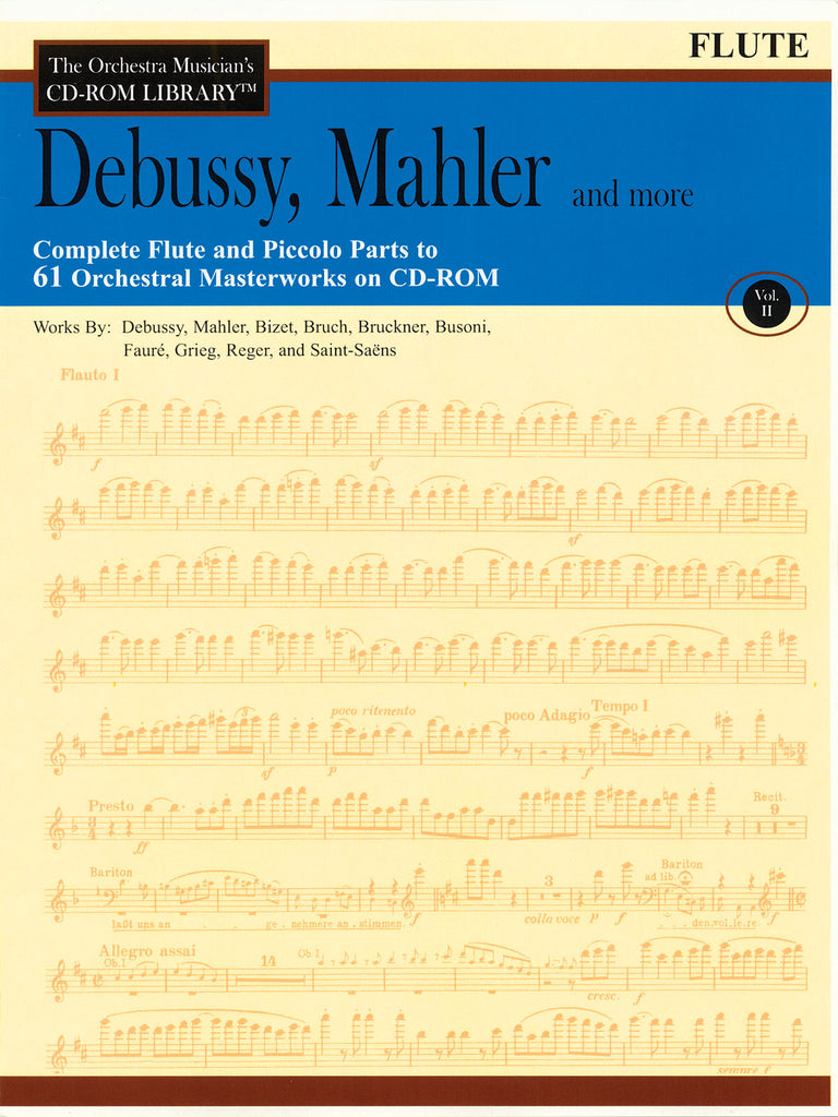 The Orchestra Musician's CD-ROM Library - Debussy, Mahler and More – Volume 2