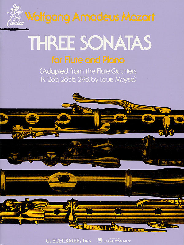 3 Sonatas (Adapted from the Flute Quartets) (Flute and Piano)