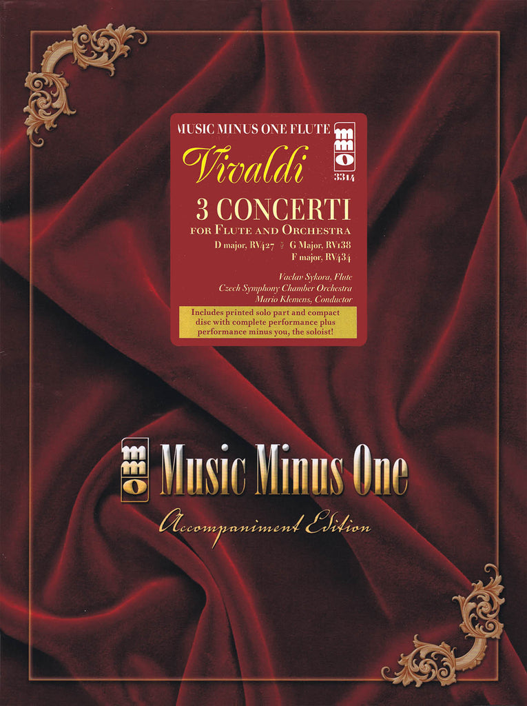 3 Concerti for Flute & Orchestra (Vivaldi): D Major (RV427); F Major (RV434); G Major (RV438)