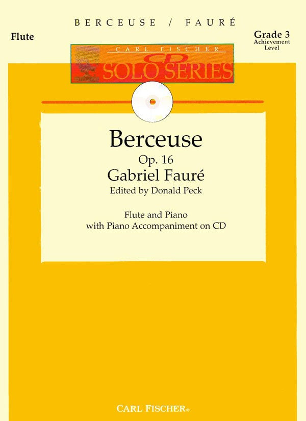 Berceuse, Op.16 (Flute and Piano)