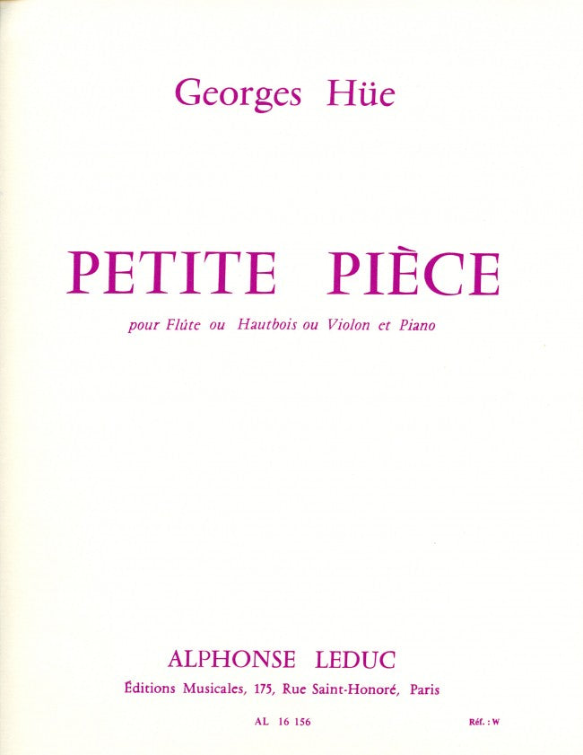 Petite Pièce in G major (Flute and Piano)