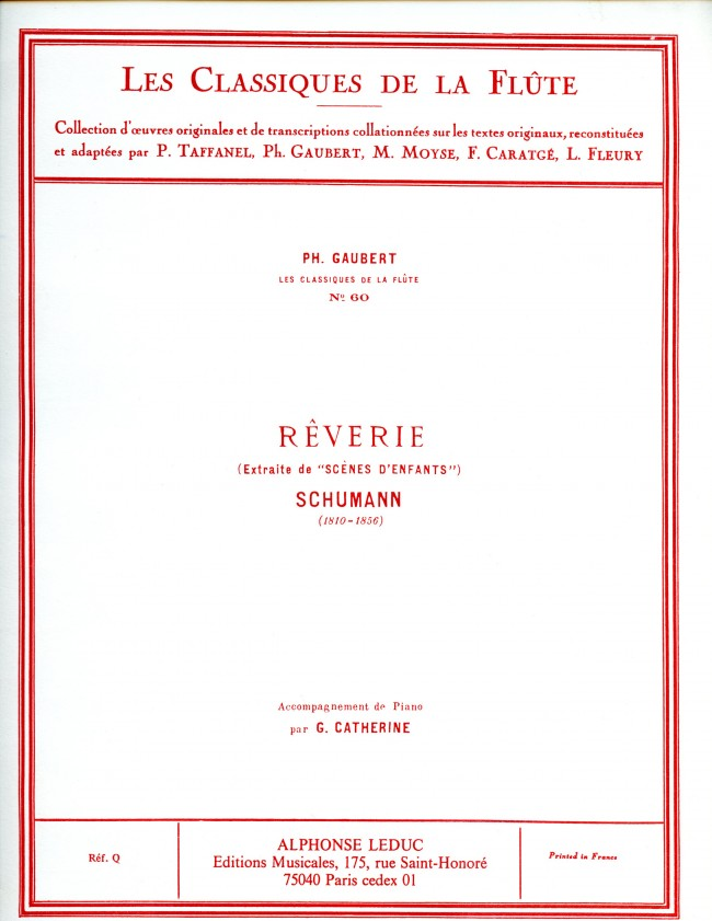 Rêverie Op.15, No.7 (Flute and Piano)