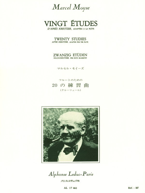Twenty Studies after Kreutzer, adapted for Flute