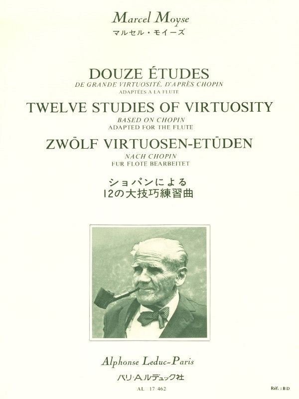 Twelve studies of great virtuosity after Chopin (Flute)