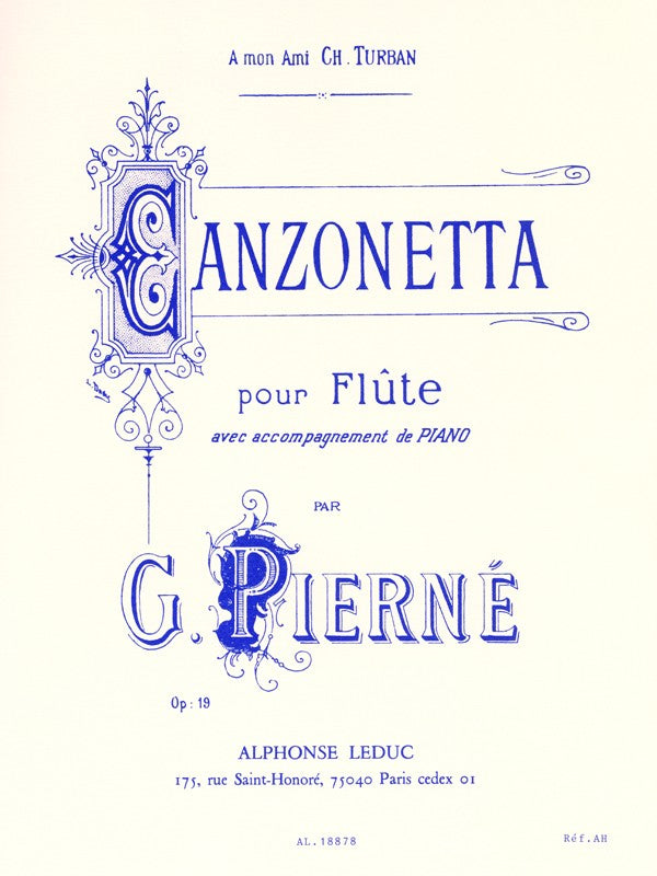 Canzonetta, Op.19 (Flute and Piano)
