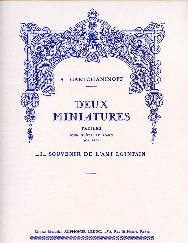 Suite miniature Op.145, No.7: Souvenir de l'Ami lointain (Flute and Piano)