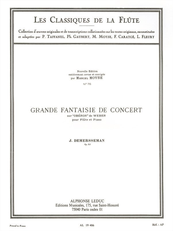 Great Concert Fantasy, Op. 52 (Flute and Piano)