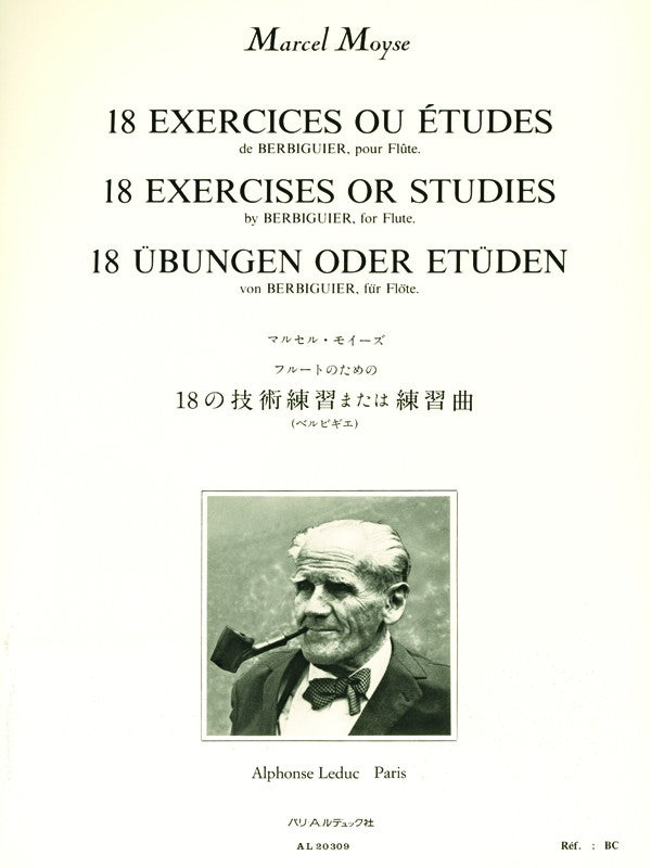 18 Exercises or Etudes by Berbiguier