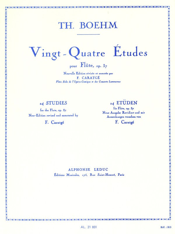 24 Studies For The Flute, Op.37