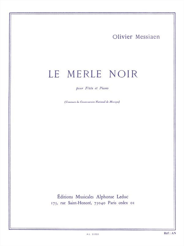 Le Merle Noir (Flute and Piano)