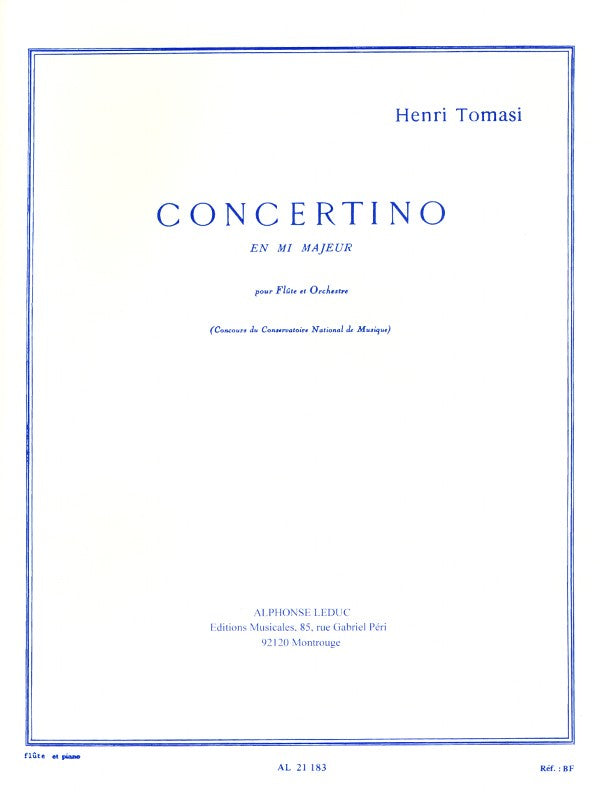 Concertino in E major (Flute and Piano)