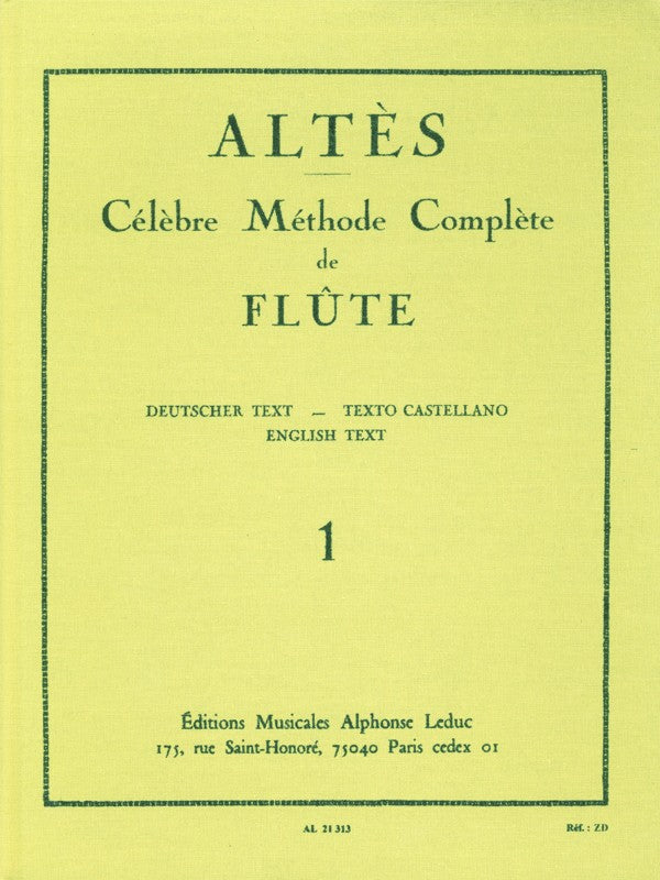 Complete Famous Method for Flute - Volume 1