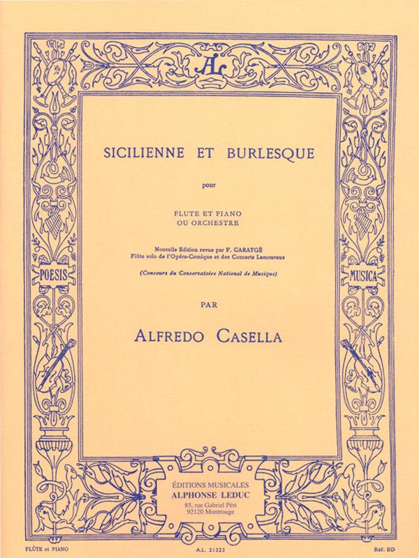 Sicilienne E Burlesque (Flute and Piano)