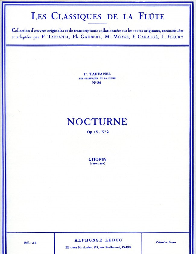 Chopin: Nocturne Op.15, No.2 (Flute and Piano)