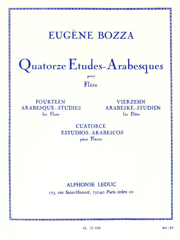 Fourteen Arabesque Studies (Flute Alone)