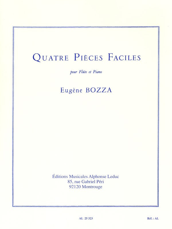 4 Pièces Faciles (Flute and Piano)