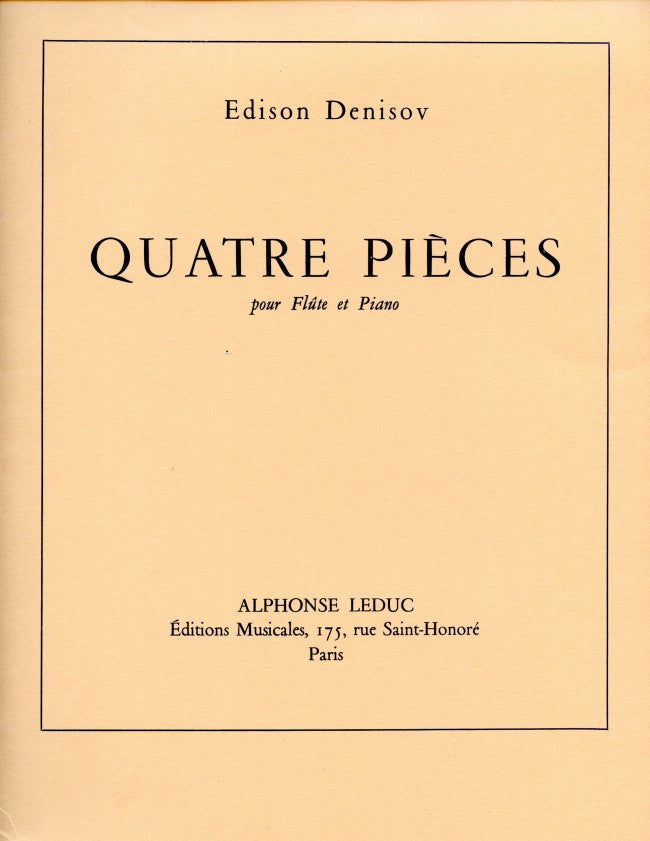 4 Pièces (Flute and Piano)