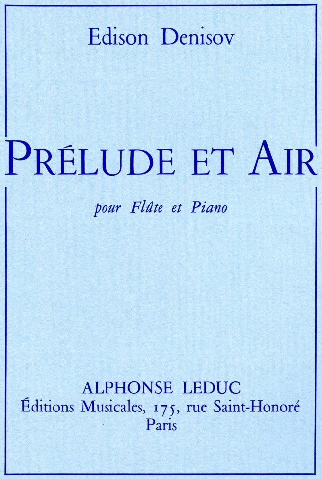 Prélude et Air (Flute and Piano)
