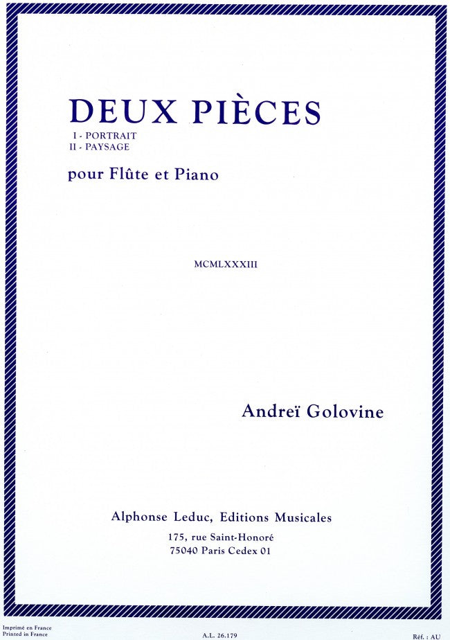2 Pièces (Flute and Piano)