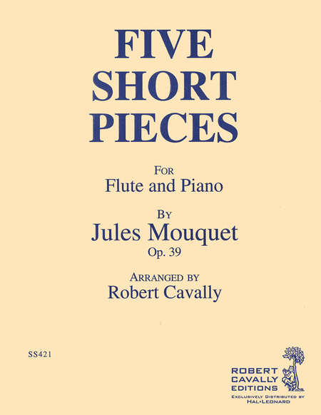 5 Short Pieces, Op. 39 (Flute and Piano)