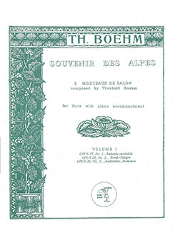 Souvenir Des Alpes, Vol 1 No. 1-3 (Flute and Piano)