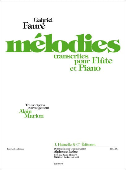 Melodies Transcribed for Flute and Piano Volume 1