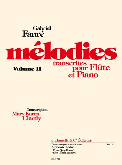 Melodies Transcribed for Flute and Piano Volume 2