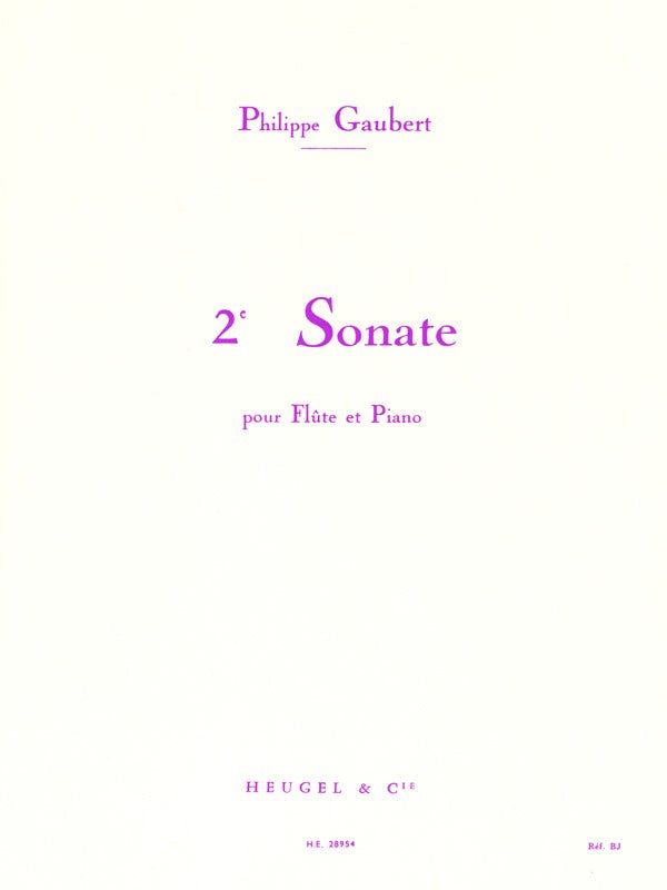 Seconde Sonate (Flute and Piano)