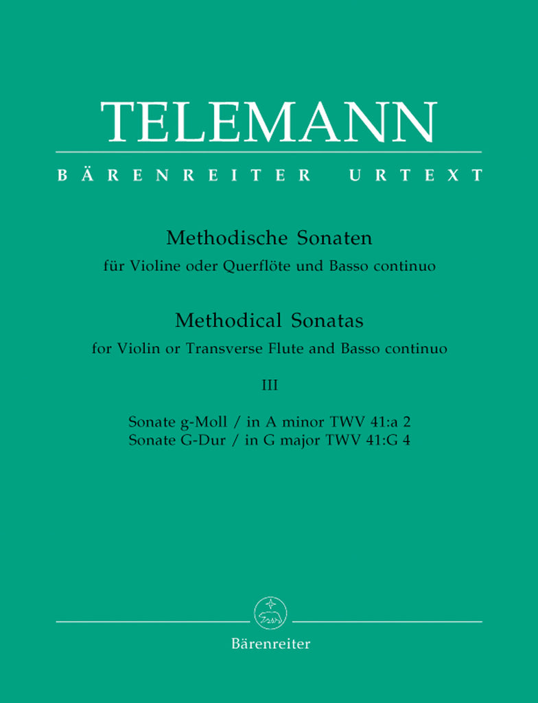 Twelve Methodical Sonatas, Volume 3 Sonatas 5-6 (Flute and Piano)