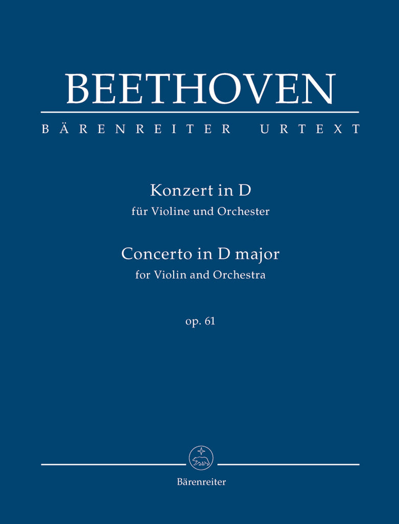 Concerto for Violin and Orchestra in D major op. 61 (Orchestral Score)