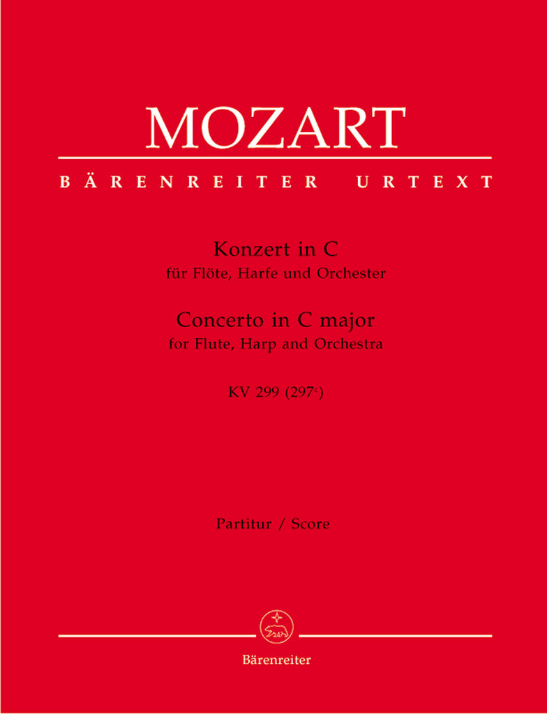 Concerto in C Major, K. 299 for Flute and Harp (Full Score)
