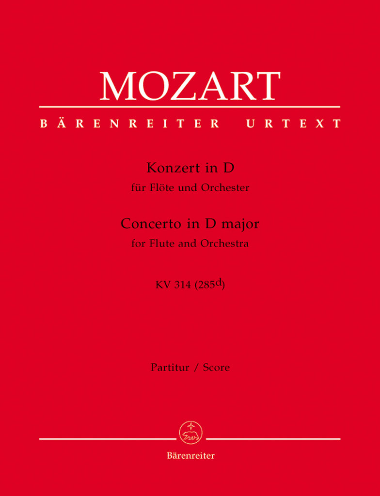 Concerto No. 2 in D Major, K314 (285d) (Full Score)