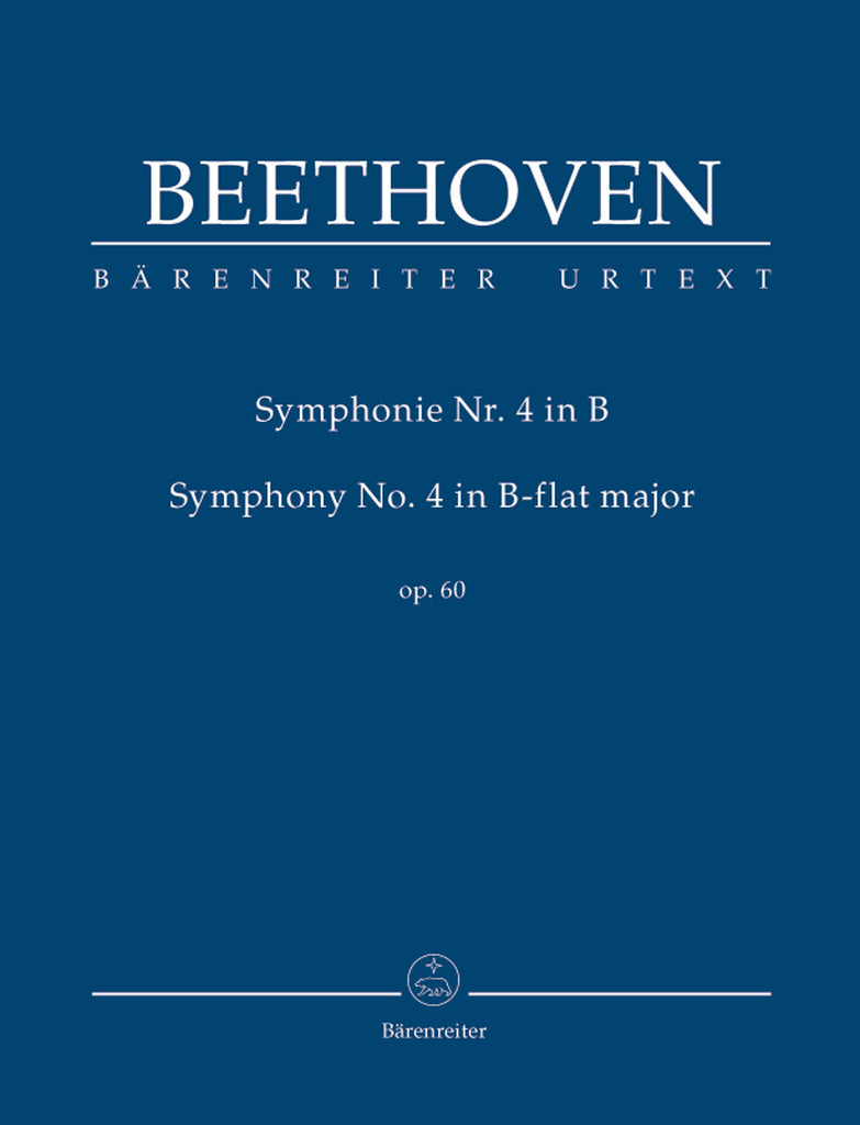 Symphony No. 4 in B flat major op. 60 (Orchestral Score)